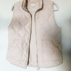 J.Crew Quilted Cream Vest
